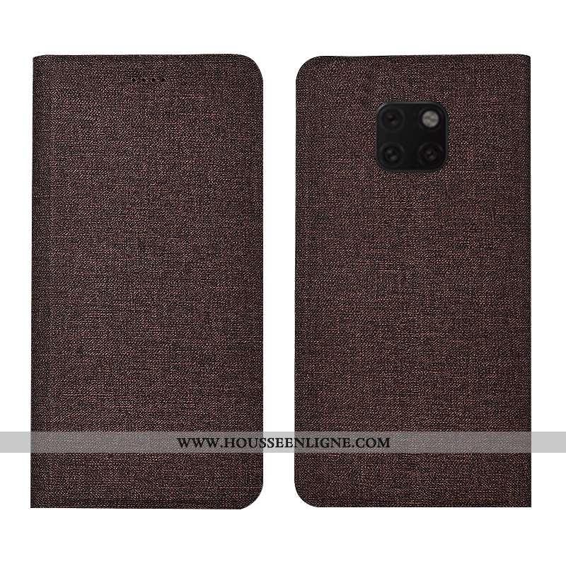 Coque Huawei Mate 20 Rs Cuir Bleu Téléphone Portable Étui