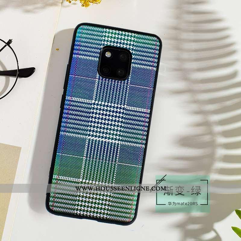 Coque Huawei Mate 20 Rs Fluide Doux Cuir Véritable Téléphone Portable Qualité Cuir Ultra Étui Bleu