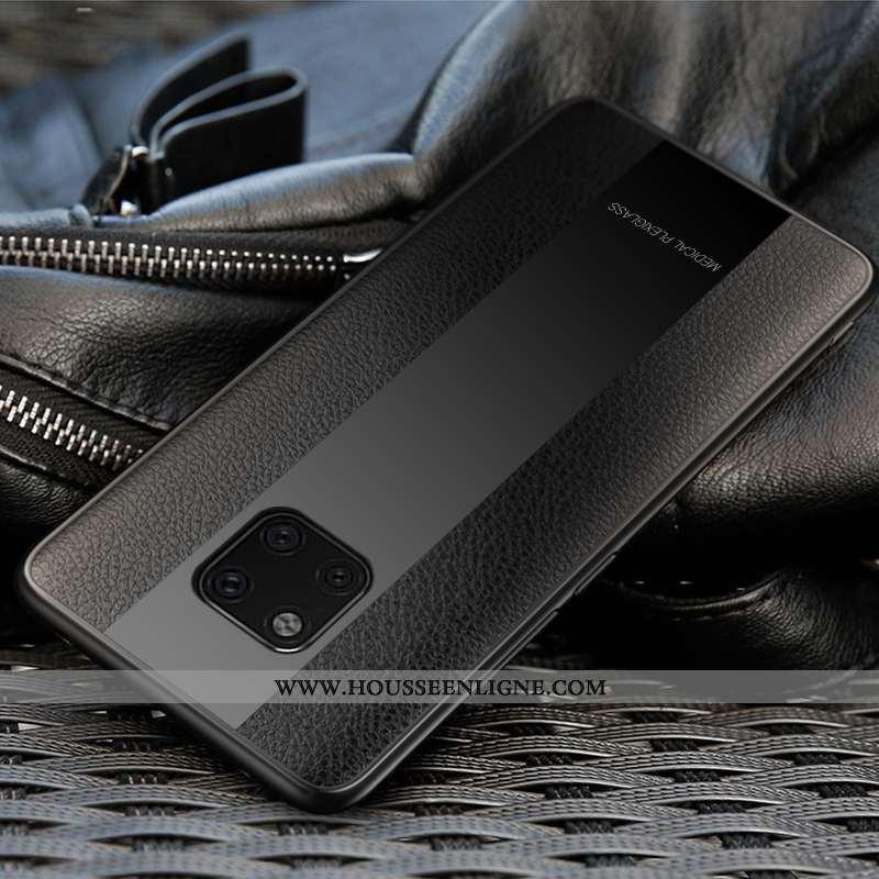 Coque Huawei Mate 20 Rs Modèle Fleurie Protection Incassable Personnalité Tendance Cuir Rouge