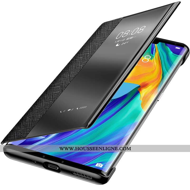 Coque Huawei Mate 20 Rs Personnalité Créatif Ultra Cuir Véritable Incassable Housse Tout Compris Noi