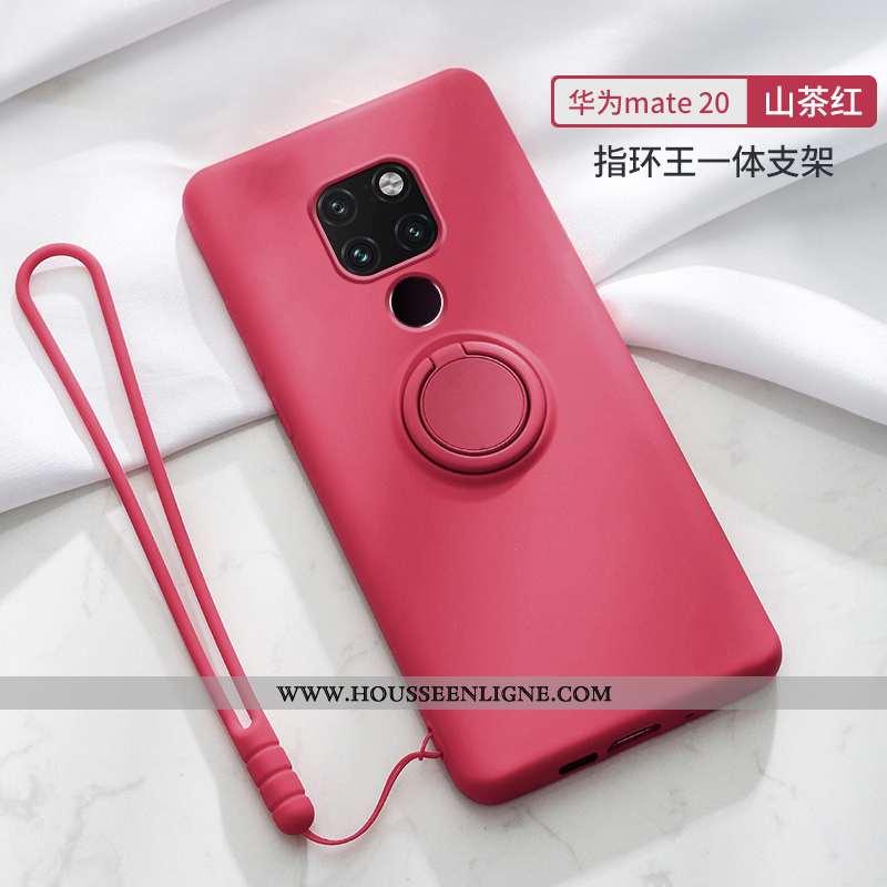 Coque Huawei Mate 20 Silicone Ornements Suspendus Personnalité Incassable Ultra Fluide Doux Rouge