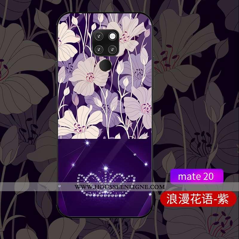 Coque Huawei Mate 20 Verre Personnalité Célébrité Luxe Créatif Tout Compris Protection Violet