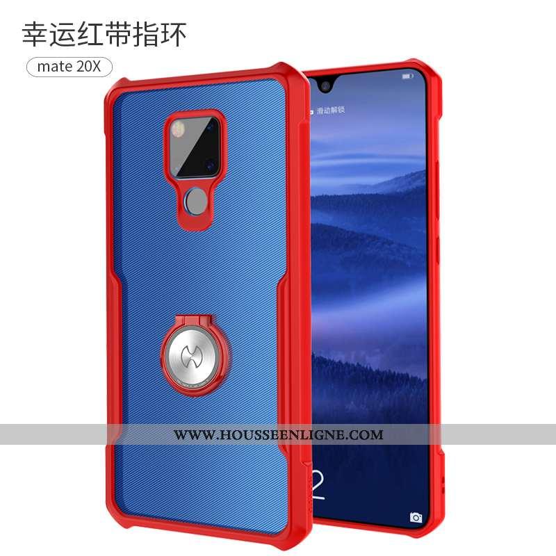 Coque Huawei Mate 20 X Silicone Protection Incassable Légère Téléphone Portable Personnalité Rouge