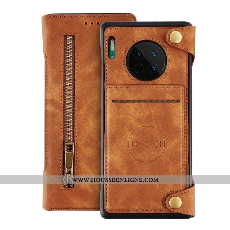 Coque Huawei Mate 30 Accessoires Protection Cuir Étui Tout Compris Housse Marron