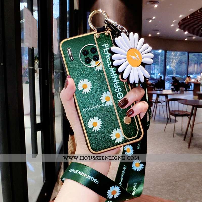 Coque Huawei Mate 30 Fluide Doux Silicone Net Rouge Style Chinois Téléphone Portable Créatif Verte