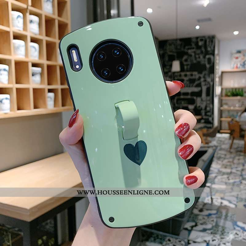 Coque Huawei Mate 30 Fluide Doux Silicone Personnalité Vert Petit Téléphone Portable Verte