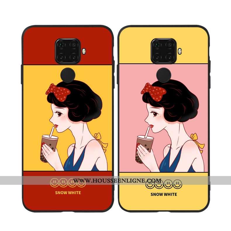 Coque Huawei Mate 30 Lite Silicone Original Rouge Étui Téléphone Portable Fluide Doux