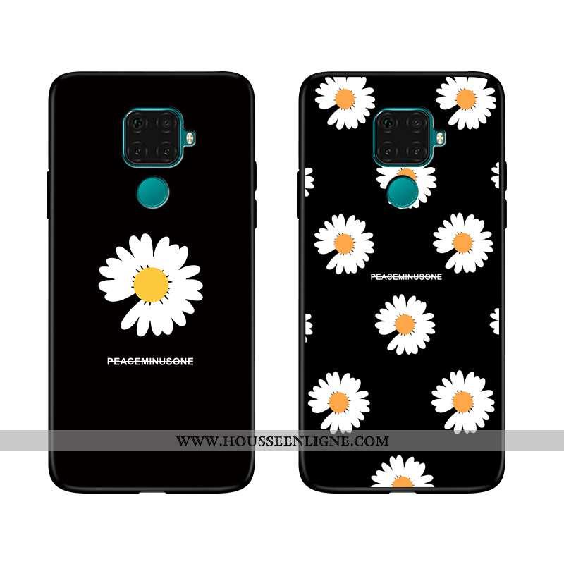 Coque Huawei Mate 30 Lite Tendance Fluide Doux Téléphone Portable Étui Dessin Animé Incassable Noir
