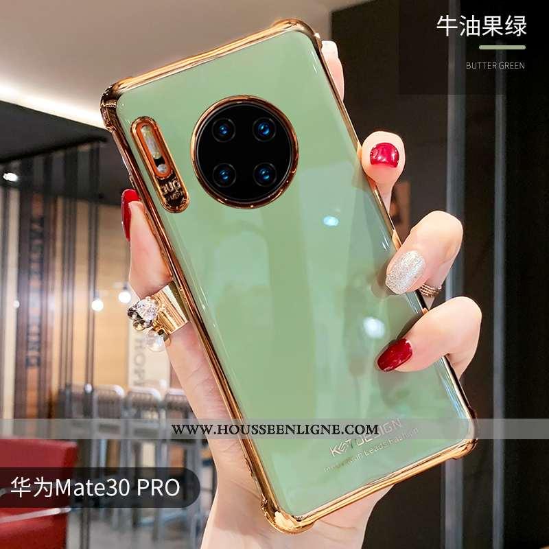 Coque Huawei Mate 30 Pro Silicone Personnalité Incassable Clair Vert Tendance Étui Verte