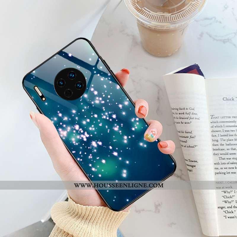 Coque Huawei Mate 30 Pro Tendance Légère Étui Protection Simple Ultra Bleu