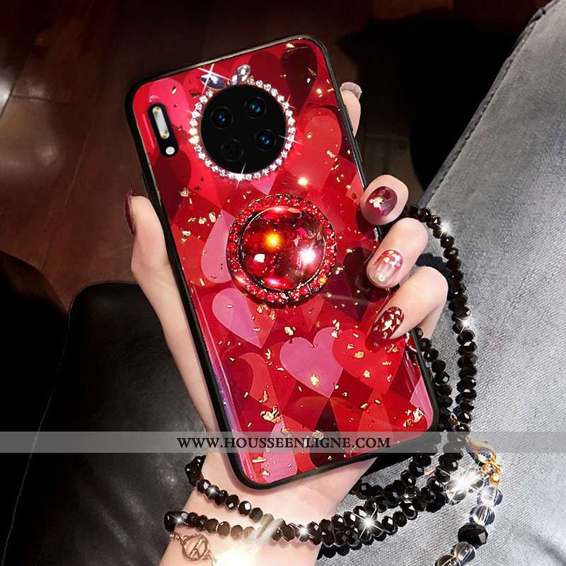 Coque Huawei Mate 30 Pro Tendance Silicone Téléphone Portable Tout Compris Rouge Mode Luxe