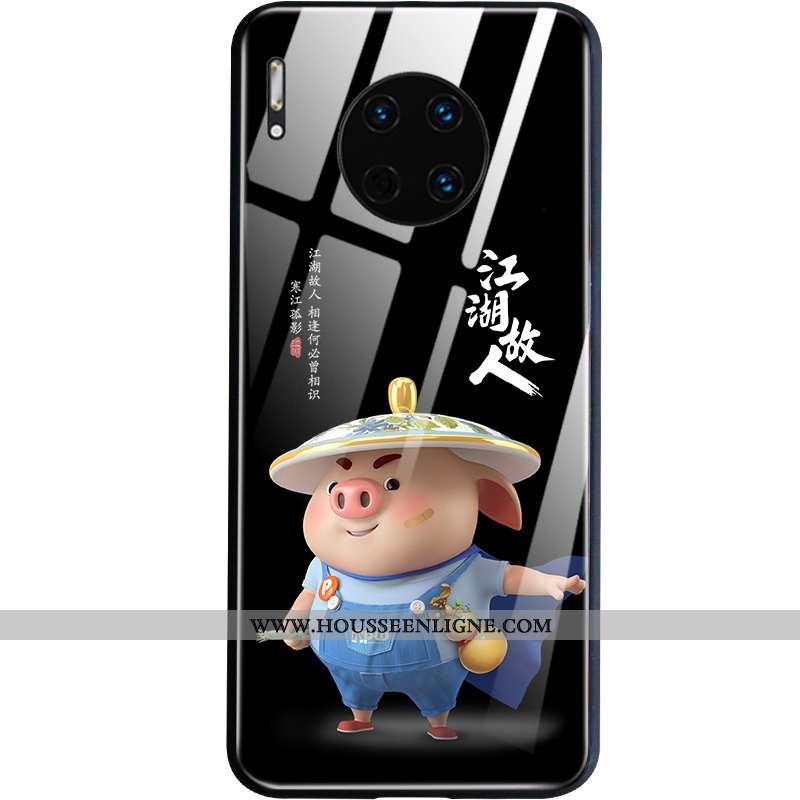 Coque Huawei Mate 30 Protection Dessin Animé Téléphone Portable Petit Légère Étui Noir