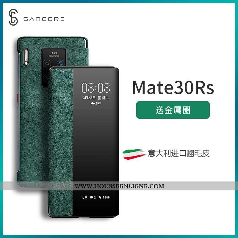 Coque Huawei Mate 30 Rs Daim Fourrure Protection Étui Windows Net Rouge Tendance Verte