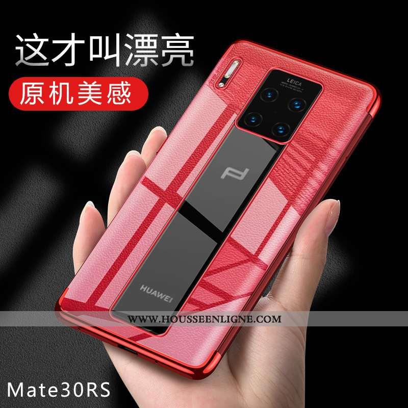 Coque Huawei Mate 30 Rs Fluide Doux Protection Légère Téléphone Portable Étui Rouge
