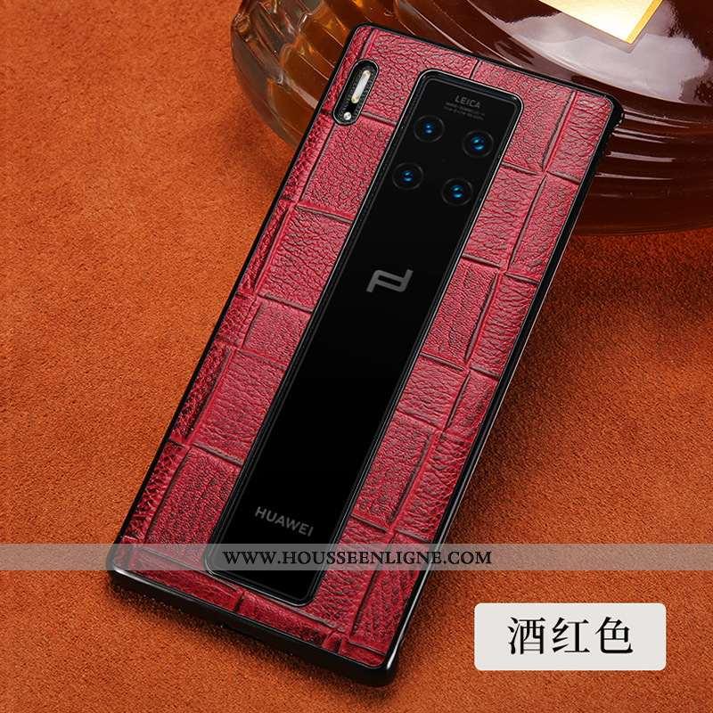 Coque Huawei Mate 30 Rs Protection Créatif Téléphone Portable Incassable Business Cuir Véritable Bov
