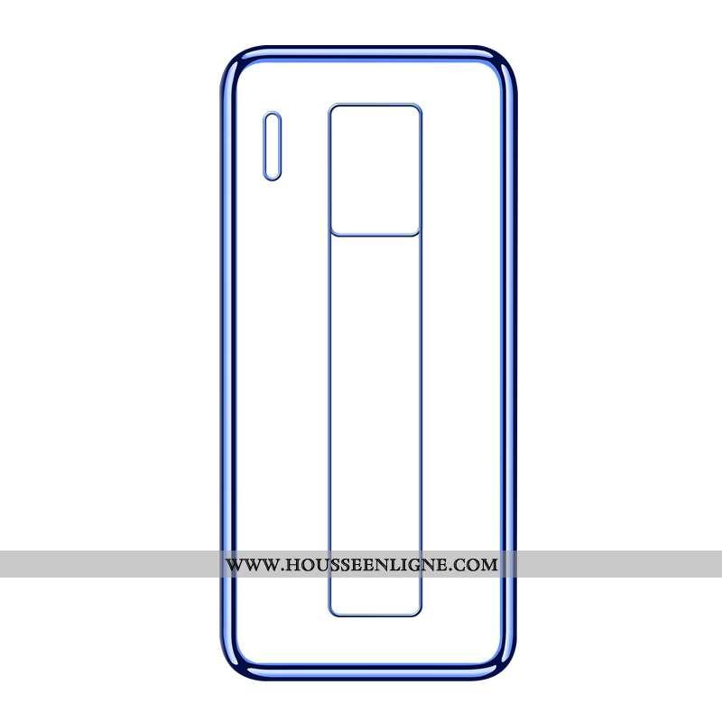 Coque Huawei Mate 30 Rs Transparent Fluide Doux Bleu Téléphone Portable Incassable Tout Compris