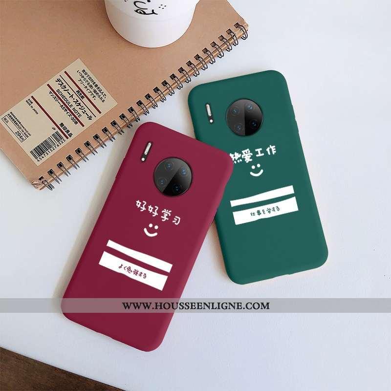 Coque Huawei Mate 30 Silicone Protection Amoureux Étui Téléphone Portable Net Rouge Rouge
