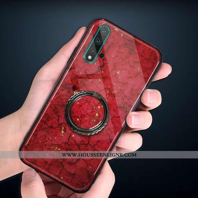 Coque Huawei Nova 5t Fluide Doux Silicone Incassable Nouveau Téléphone Portable Étui Rouge