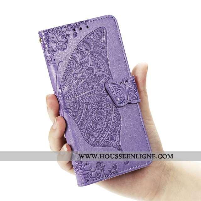 Coque Huawei Nova 5t Protection Cuir Clamshell Incassable Violet Tout Compris Téléphone Portable