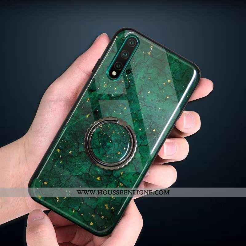 Coque Huawei Nova 5t Silicone Protection Vert Téléphone Portable Fluide Doux Étui Incassable Turquoi