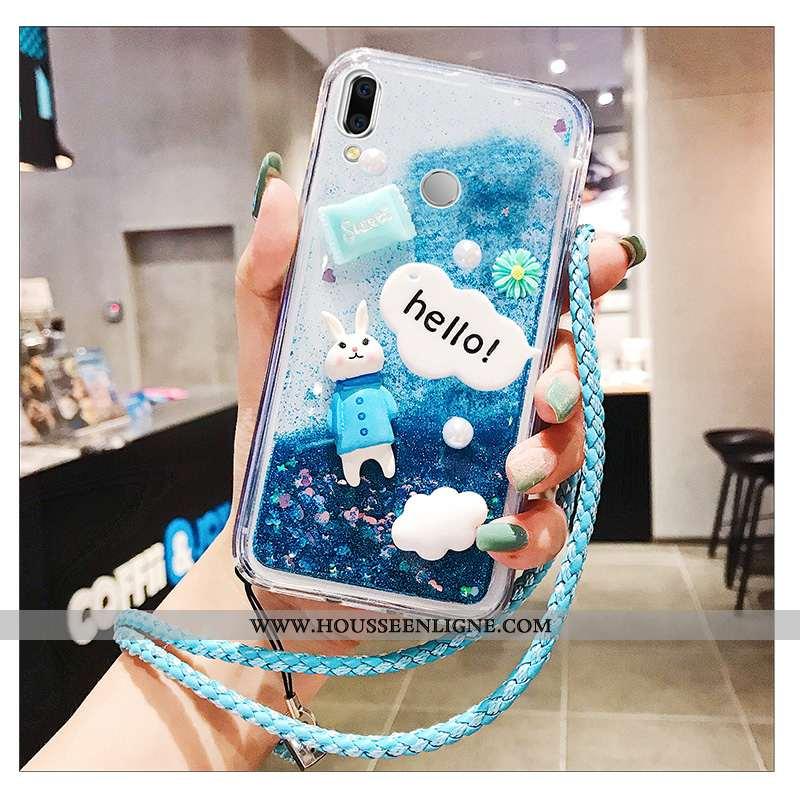 Coque Huawei P Smart 2020 Charmant Protection Téléphone Portable Violet Bleu Étui Incassable