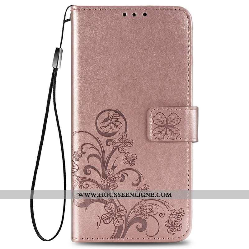 Coque Huawei P Smart 2020 Protection Cuir Étui Rose Téléphone Portable Clamshell