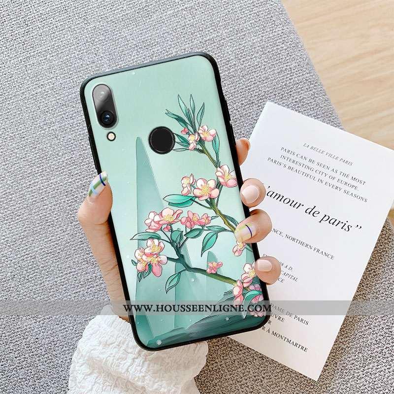 Coque Huawei P Smart 2020 Protection Délavé En Daim Couleur Créatif Incassable Dimensionnel Étui Ver