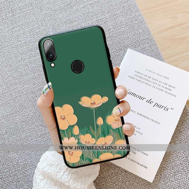 Coque Huawei P Smart 2020 Protection Délavé En Daim Fluide Doux Peinture À L'huile Téléphone Portabl