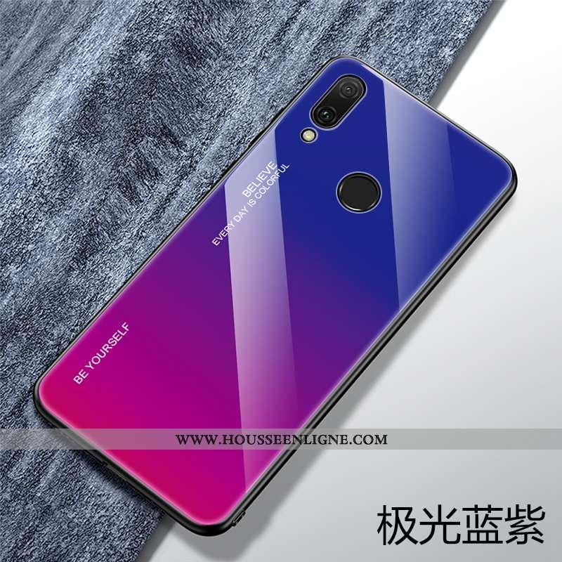 Coque Huawei P Smart 2020 Protection Verre Personnalité Bleu Tendance Fluide Doux Téléphone Portable