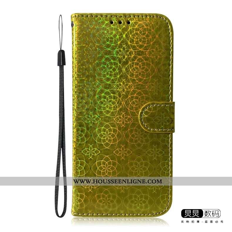 Coque Huawei P Smart 2020 Silicone Protection Or Téléphone Portable Étui Tendance Cuir Doré