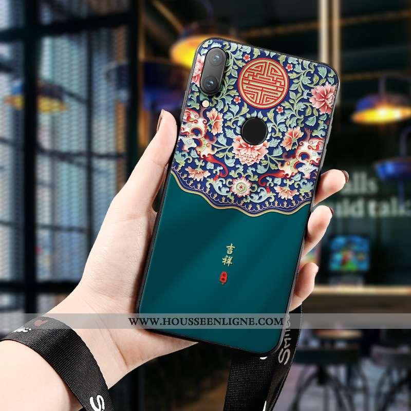 Coque Huawei P Smart 2020 Silicone Protection Tout Compris Tendance Gaufrage Dimensionnel Téléphone