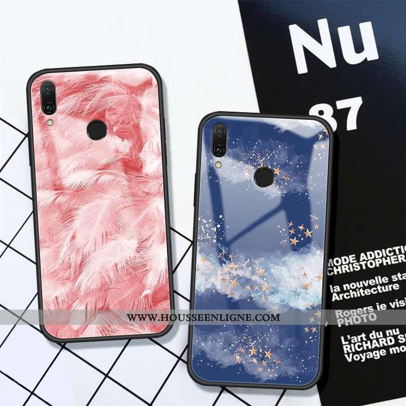 Coque Huawei P Smart 2020 Silicone Verre Net Rouge Rose Tout Compris Fluide Doux Téléphone Portable