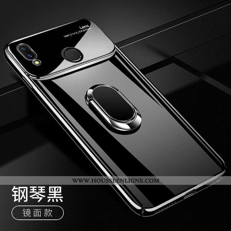 Coque Huawei P Smart 2020 Ultra Tendance Légère Pu Étui Verre Tout Compris Noir