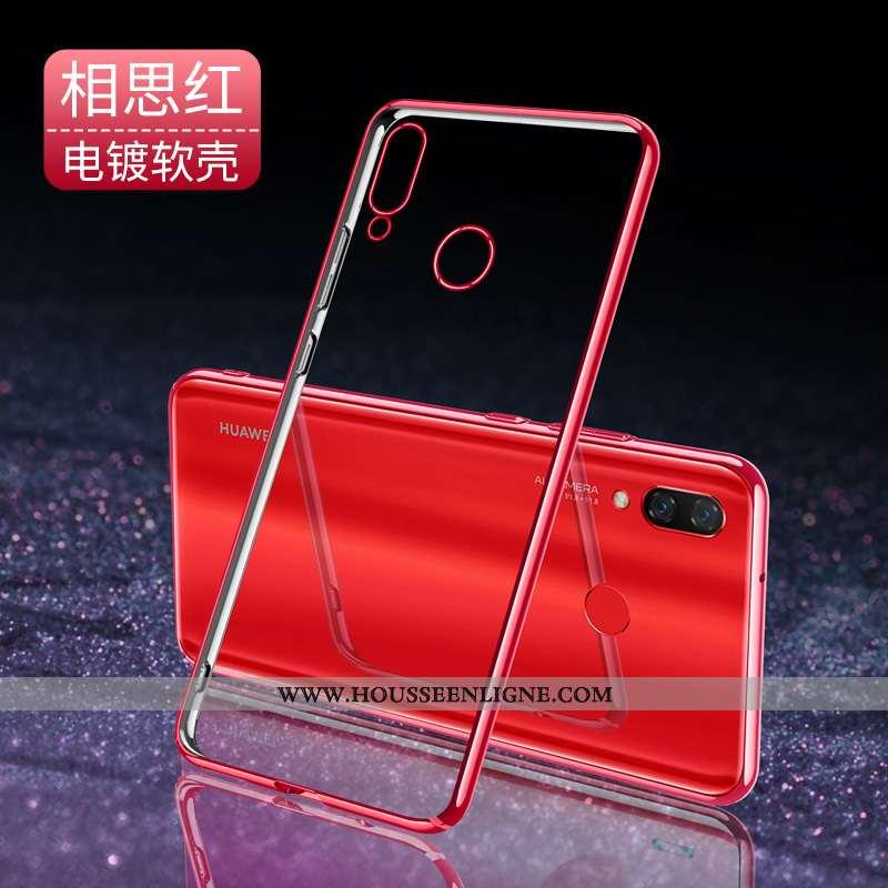 Coque Huawei P Smart+ Légère Fluide Doux Rouge Ultra Net Rouge Étui