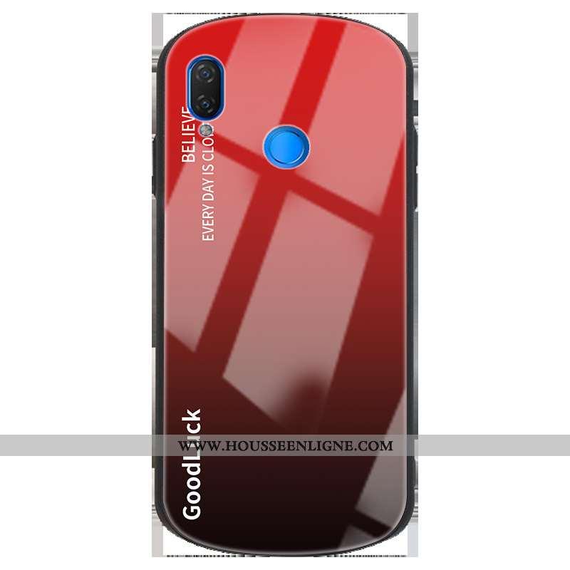 Coque Huawei P Smart+ Personnalité Créatif Clair Incassable Tout Compris Simple Rouge