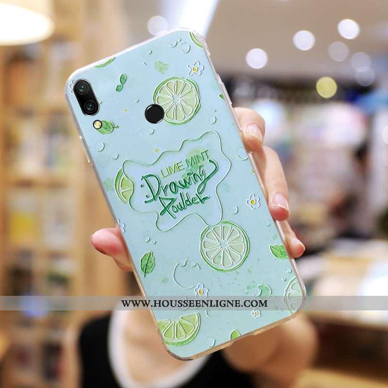Coque Huawei P Smart+ Personnalité Créatif Fluide Doux Délavé En Daim Charmant Net Rouge Verte