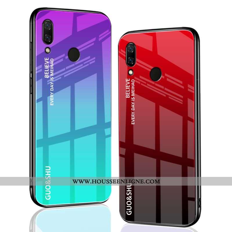 Coque Huawei P Smart+ Personnalité Créatif Rouge Étui Délavé En Daim Protection Tendance