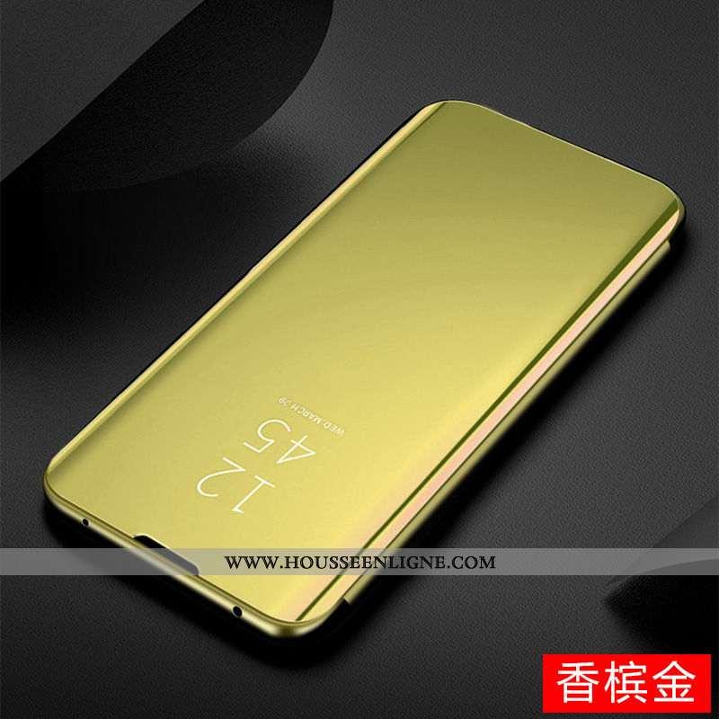 Coque Huawei P Smart Z Transparent Or Téléphone Portable Housse Miroir Plier Doré