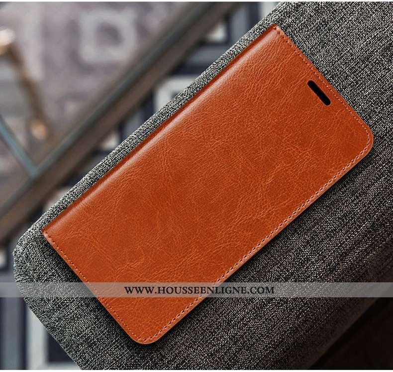 Coque Huawei P20 Créatif Cuir Couleur Unie Personnalité Housse Simple Marron