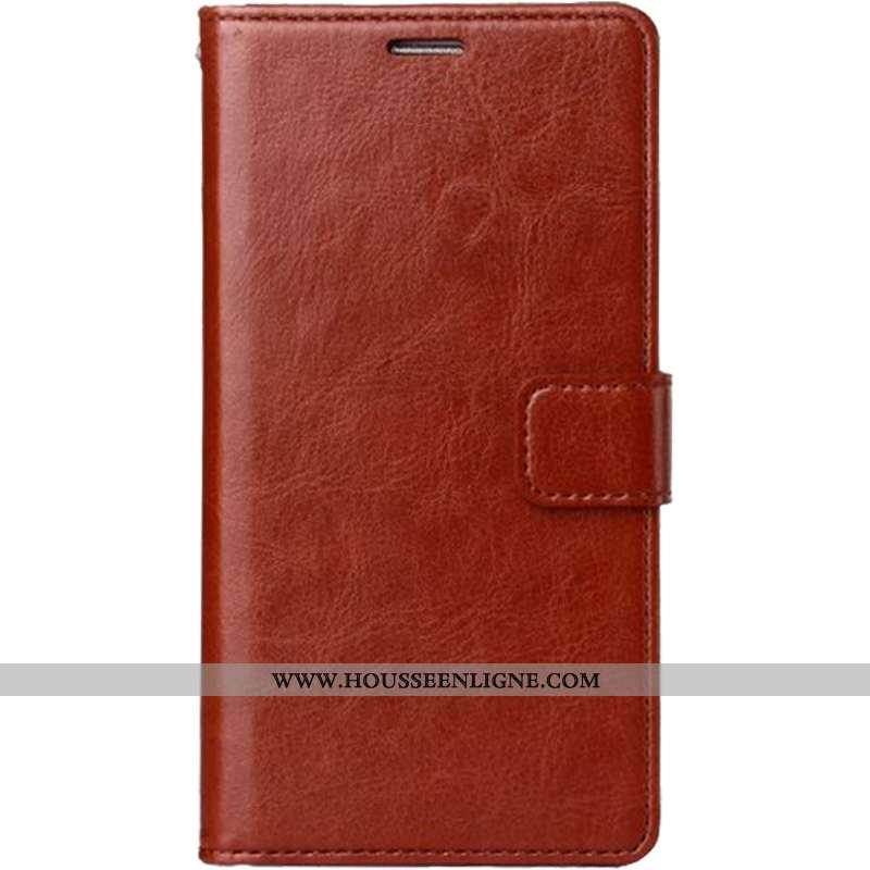 Coque Huawei P20 Fluide Doux Protection Étui Clamshell Cuir Téléphone Portable Tout Compris Marron