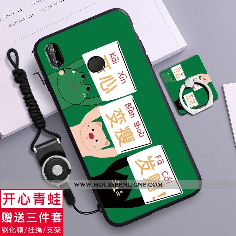 Coque Huawei P20 Lite Charmant Tendance Téléphone Portable Étui Fluide Doux Simple Verte
