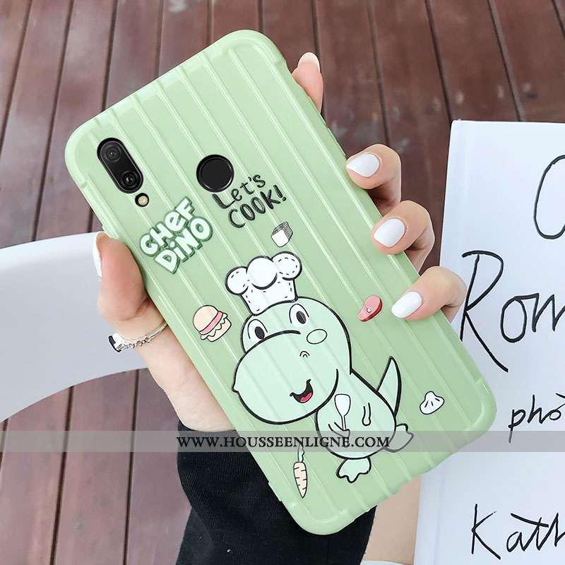 Coque Huawei P20 Lite Dessin Animé Charmant Tout Compris Jeunesse Vert Silicone Verte