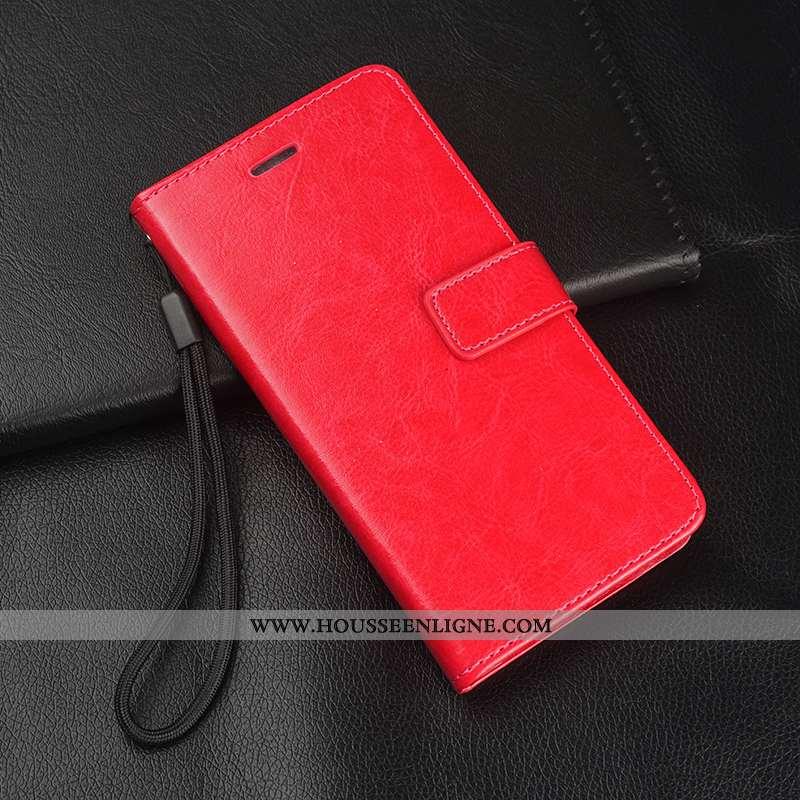 Coque Huawei P20 Lite Protection Ornements Suspendus Cuir Tout Compris Clamshell Tempérer Rouge