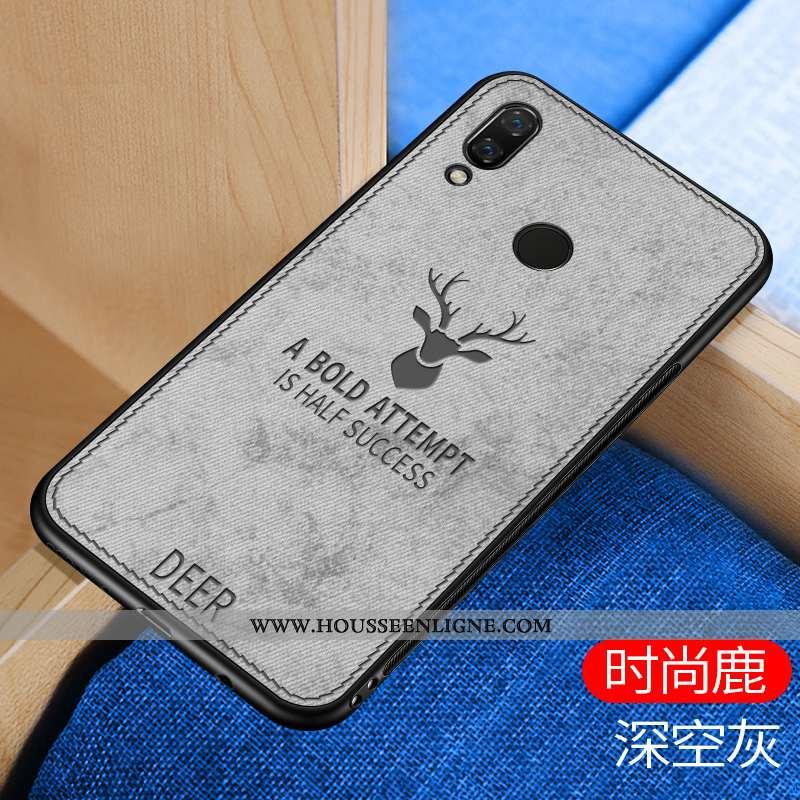 Coque Huawei P20 Lite Silicone Mode Gris Incassable Modèle Fleurie Fluide Doux Étui