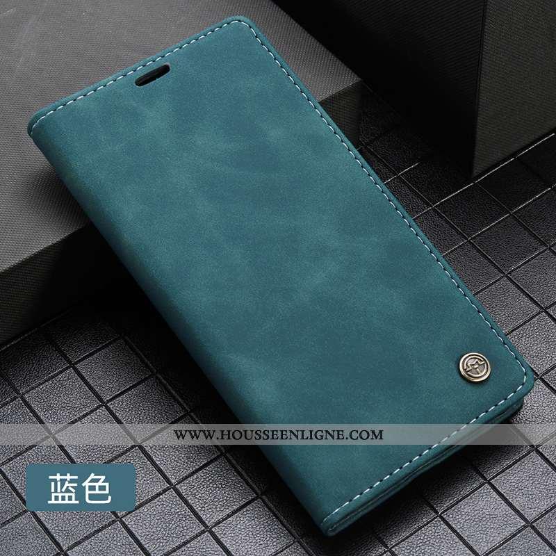 Coque Huawei P20 Pro Cuir Protection Clamshell Téléphone Portable Carte Étui Incassable Bleu