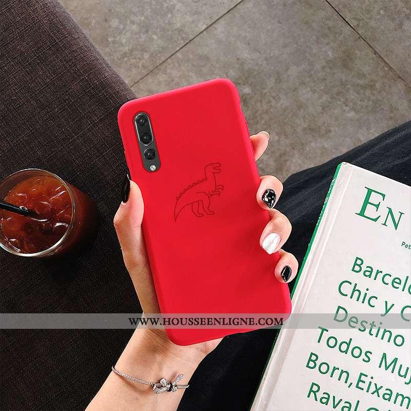 Coque Huawei P20 Pro Délavé En Daim Personnalité Simple Rouge Fluide Doux Ultra Tendance