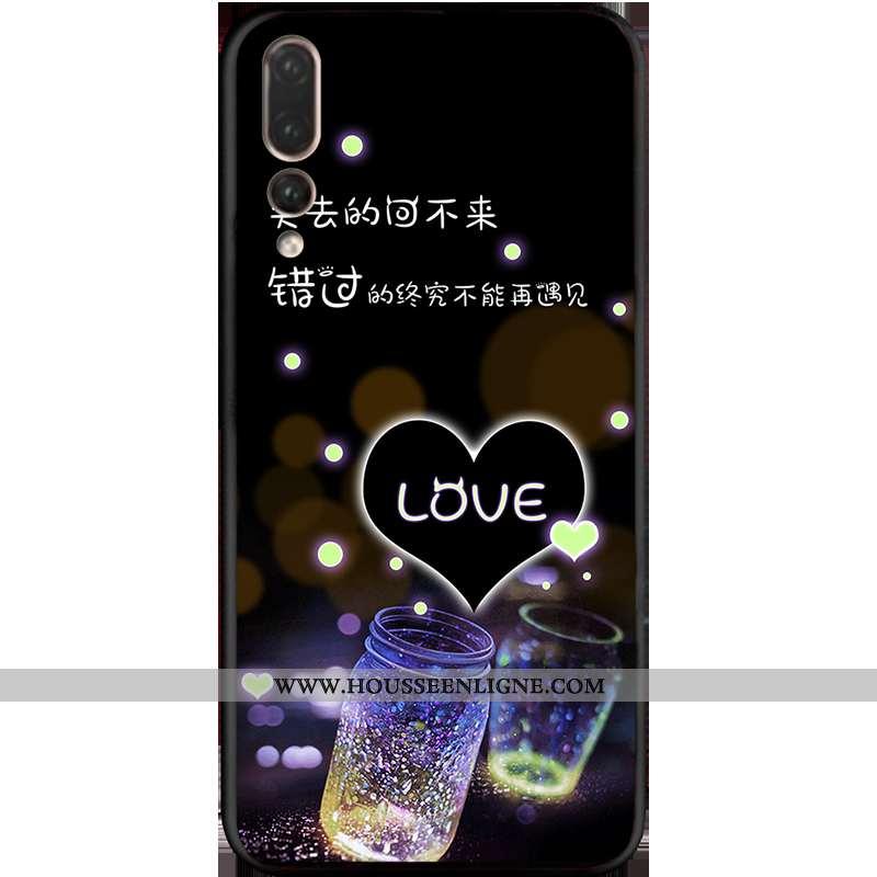 Coque Huawei P20 Pro Délavé En Daim Personnalité Violet Incassable Net Rouge Dessin Animé Silicone