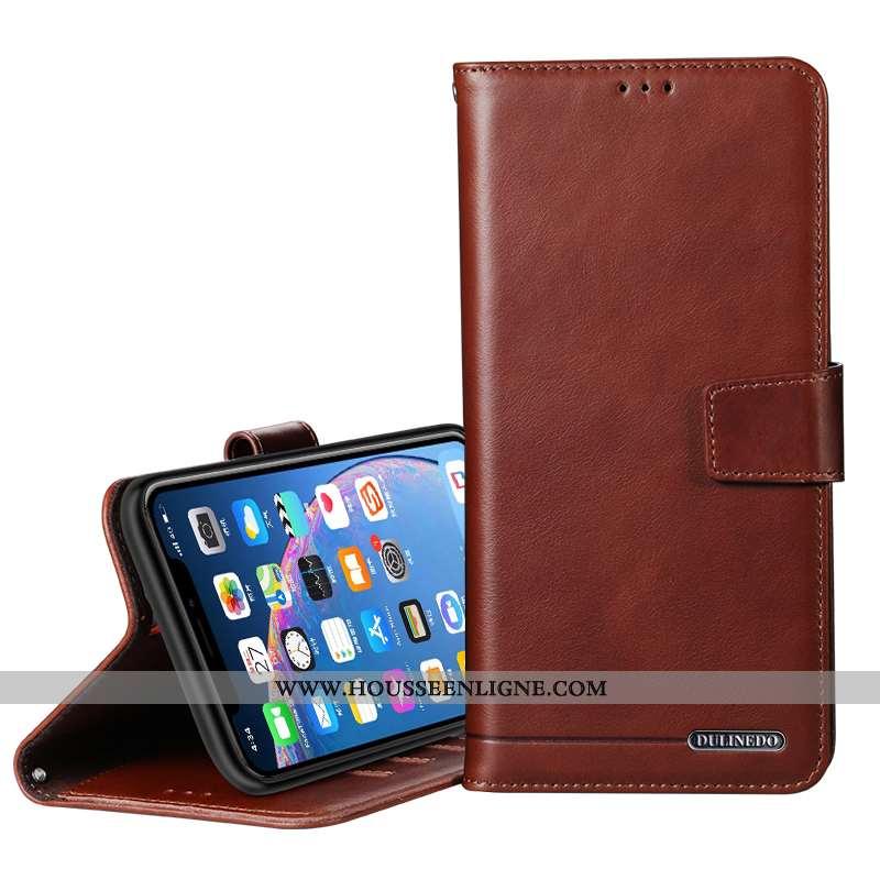 Coque Huawei P20 Pro Protection Cuir Véritable Tout Compris Housse Carte Téléphone Portable Marron