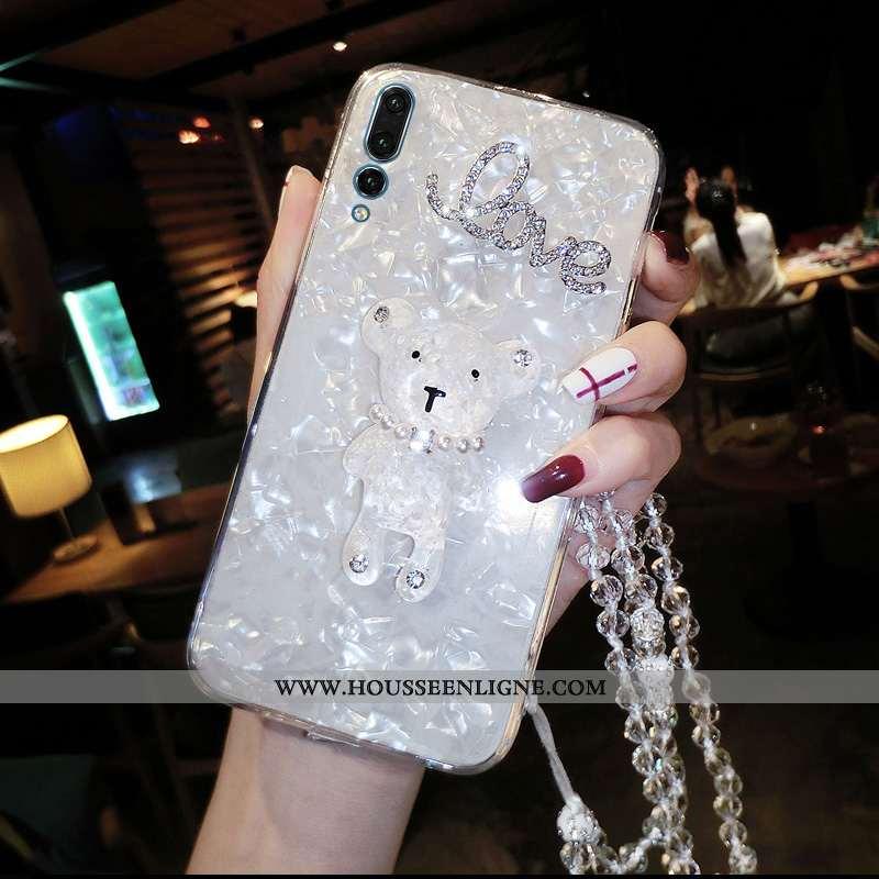 Coque Huawei P20 Pro Tendance Fluide Doux Téléphone Portable Protection Incruster Strass Incassable