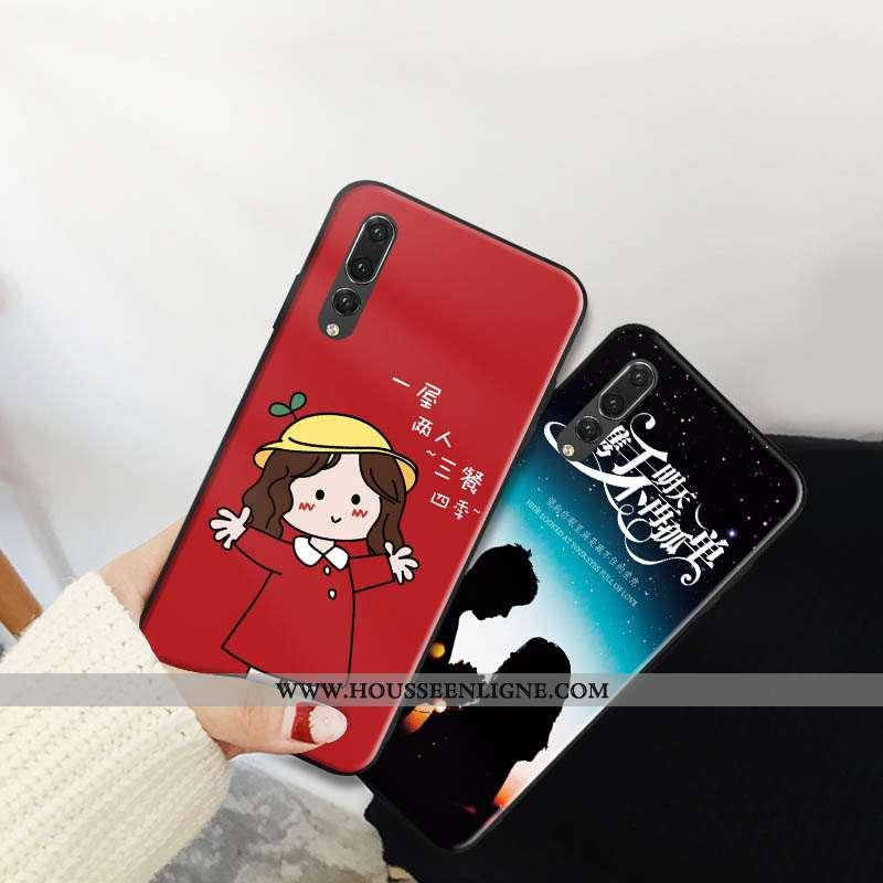 Coque Huawei P20 Pro Tendance Mode Téléphone Portable Tout Compris Protection Support Rouge